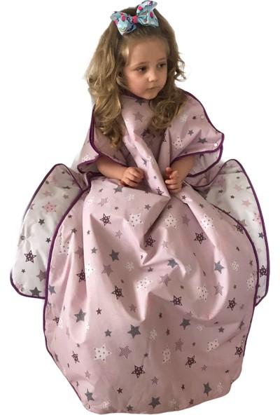 Daphne Kids Style Pembe Yıldızlı Pijama Tulum