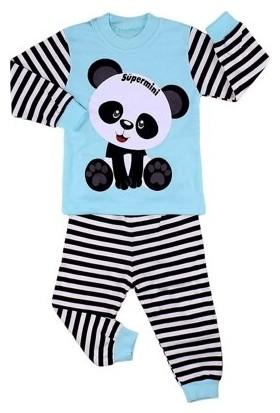 Bavyera Bebek Turkuaz Panda Desenli Pijama Takımı