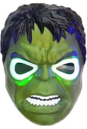Tam İthalat Işıklı Hulk Parti Maskesi