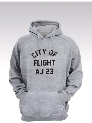14tonny Mood Jumpman 171 Gri Kapşonlu Sweatshirt - Hoodie