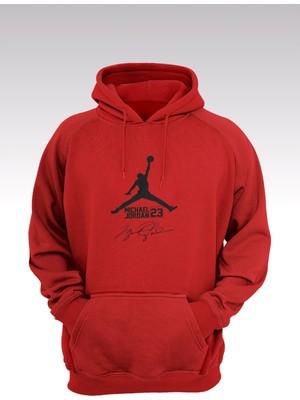 14tonny Mood Jumpman 172 Kırmızı Kapşonlu Sweatshirt - Hoodie