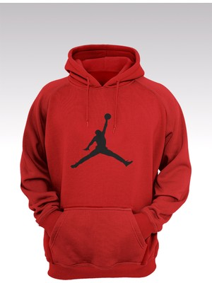 14tonny Mood Jumpman 177 Kırmızı Kapşonlu Sweatshirt - Hoodie