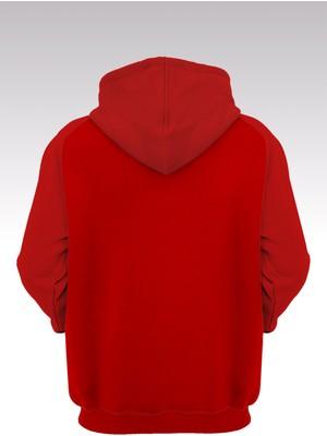14tonny Mood Jumpman 178 Kırmızı Kapşonlu Sweatshirt - Hoodie