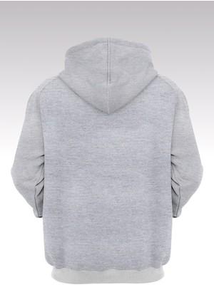 14tonny Mood Jumpman 181 Gri Kapşonlu Sweatshirt - Hoodie