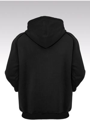 14tonny Mood Yol Nası Güzel 214 Siyah Kapşonlu Sweatshirt - Hoodie