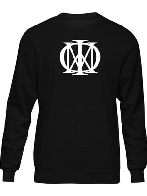 Fandomya Acdc Dream Teather Logo Siyah Sweatshirt