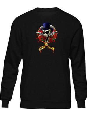 Fandomya Acdc Guns N Roses Crazy Siyah Sweatshirt