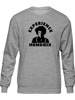 Fandomya Acdc Jimi Hendrix Gri Sweatshirt