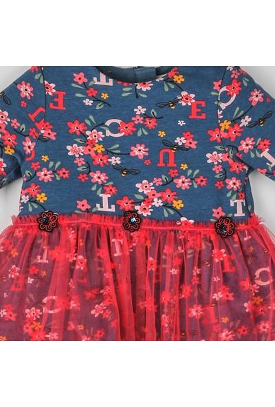 Panço Kız Bebek Örme Elbise 2021GB26013