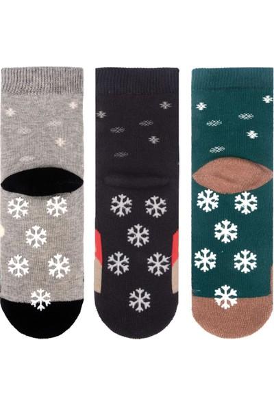 Mem Socks Kaydırmaz Havlu Çocuk Çorabı 3'lü