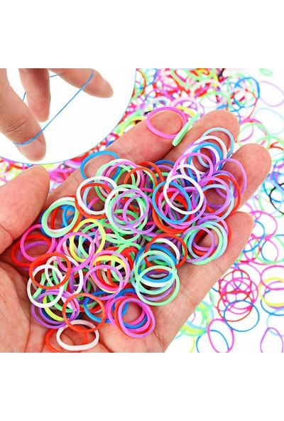 Blackpoint Renkli Lastik Kız Çocuk Tokaları 600 Adet Perma Minik Lastik Toka