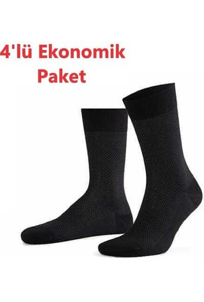 AytuğErkek Bambu 4'lü Paket Kışlık Jakarlı Soket Çorap