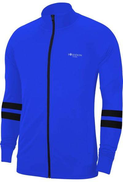 Poseidon Storm Erkek Çocuk Mavi Günlük Sporcu Eşofman Takımı 104CM-176CM Siyah Siyah Iki Bant - M2