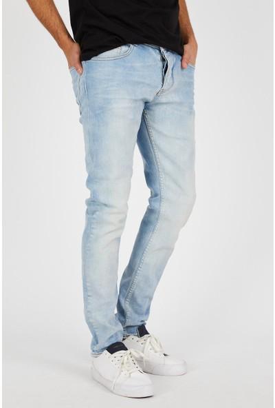Jean Maker Erkek Buz Mavisi Slim Fit Kot Pantolon 4028