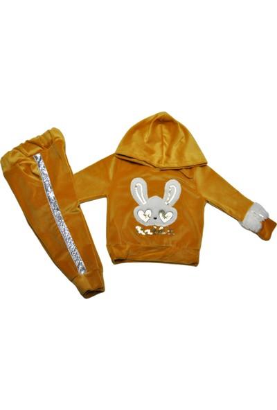Vitrin Life Payet Rabbit Nakışlı Tavşanlı Kadife Takım