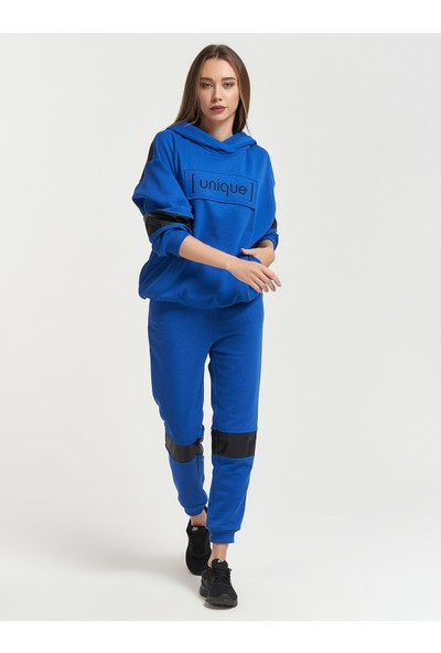 Epatage Kadın Mavi Kapüşonlu Eşofman Takımı