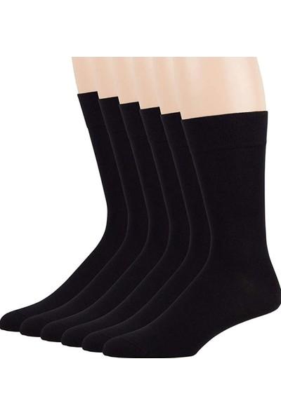 Erkek 10 Çift Bambu Dikişsiz Uzun Siyah Çorap