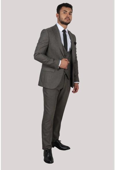 Derigo Gri Erkek Yelekli Takım Elbise 6726304