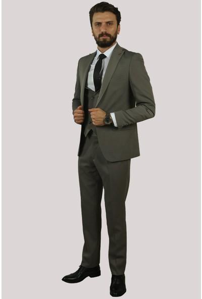 Derigo Gri Erkek Yelekli Takım Elbise 6760317
