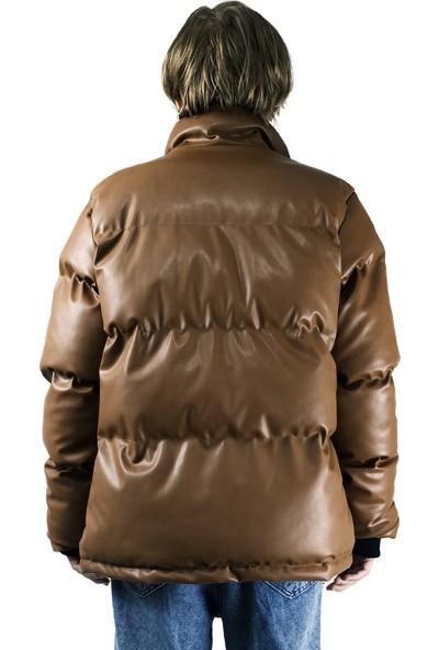 Mahzen Moda Kahverengi Şişme Mont