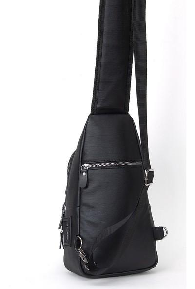 Muddbag Kadın Siyah Çapraz Göğüs Omuz ve Sırt Çantası Bodybag Freebag Bel Çantası