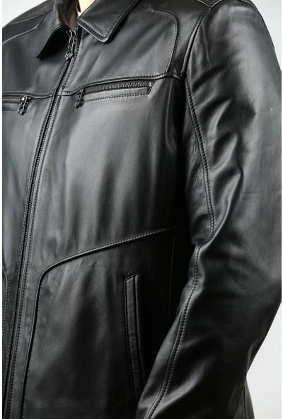 Franko Armondi Erkek Deri Klasik Mont Siyah K-964-18231 Fa1