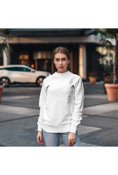 Fandomya Acdc Dream Teather Logo Beyaz Sweatshirt