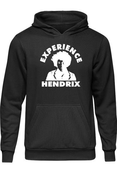 Fandomya Acdc Jimi Hendrix Siyah Kapşonlu Hoodie