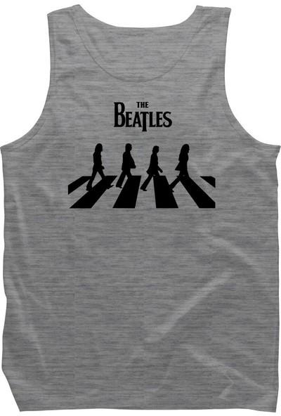 Fandomya Acdc The Beatles Gri Askılı Atlet