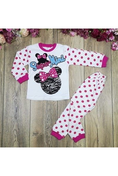 Bavyera Kız Bebek Mickey Mouse Temalı 4-6 Yaş Pijama Takımı