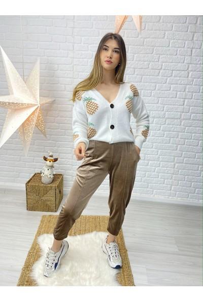 The Elsa Bronz Kadife Eşofman Altı