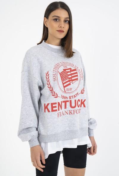 Loukai Kentucky Baskılı Sweatshirt