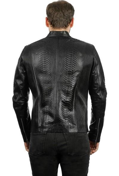 Franko Armondi Erkek Deri Klasik Luxury Mont Komple Siyah K-967-18441 Fa1