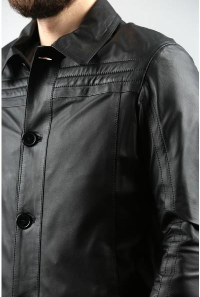 Franko Armondi Erkek Deri Klasik Mont Siyah K-759-18117 Fa1