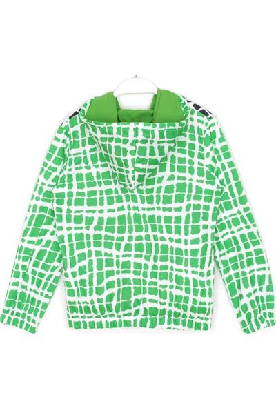 Brawl Stars Leon Baskılı Erkek Çocuk Kapşonlu Sweatshirt Yeşil