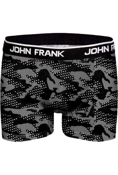 John Frank JF2BMC10 Mono Chrome Erkek Boxer Karma Desenli