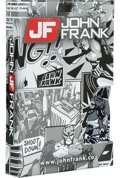John Frank JFB109 Dijital Baskılı Erkek Boxer Karma Desenli