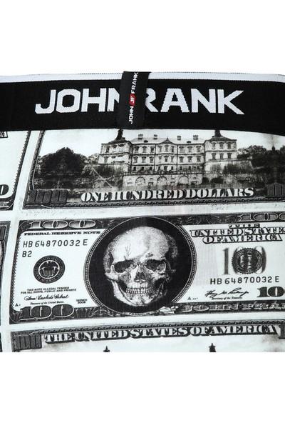 John Frank JFB72 Dolar Dijital Baskılı Erkek Boxer Karma Desenli