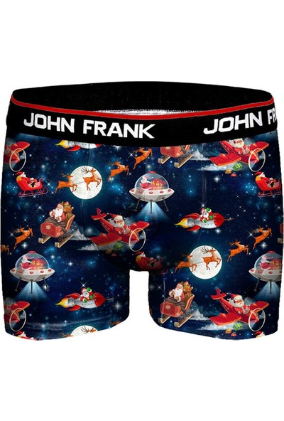 John Frank JFBD10-CH Santa Spade Erkek Boxer Desenli