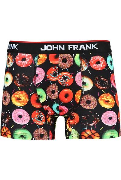 John Frank JFBD203 Donuts Dijital Baskılı Erkek Boxer Karma Desenli