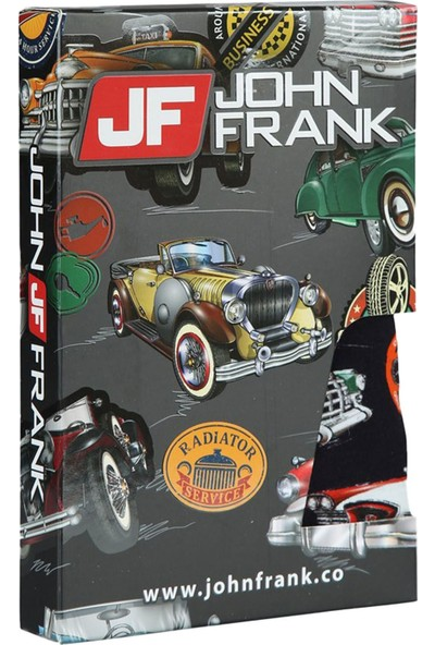 John Frank JFBD211 Retrocar Dijital Baskılı Erkek Boxer Karma Desenli
