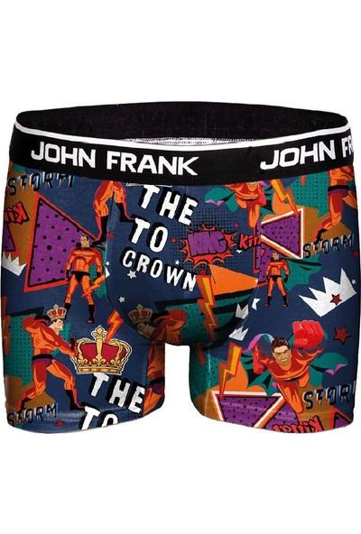 John Frank JFBD312 Rıch Teddy Dijital Baskılı Erkek Boxer Desenli