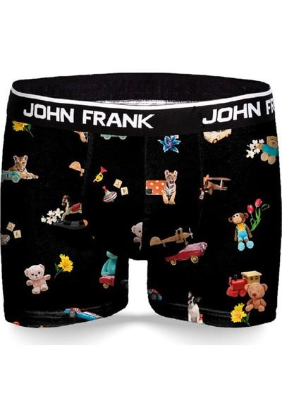 John Frank JFBD327-TOYS Erkek Dijital Boxer Desenli