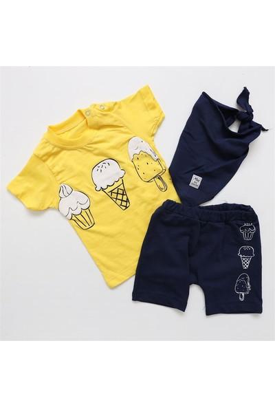 May Mirr Baby Dondurmalı Bebek Yazlık Takım 5461