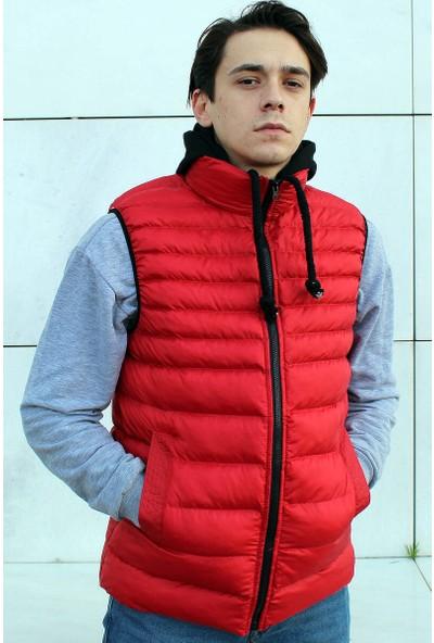 Rodrigo Kırmızı Kapüşonlu Erkek Şişme Yelek