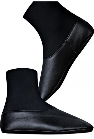 Yasir Sema Siyah Termo Deri Mest Çorap