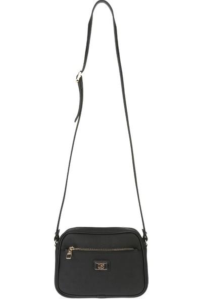 Pierre Cardin Kadın Çanta Siyah Logolu 05PO16K1347-PO S
