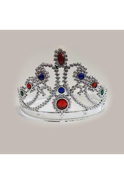 Tam İthalat Prenses Parti Tacı Gümüş Rengi 12 Adet