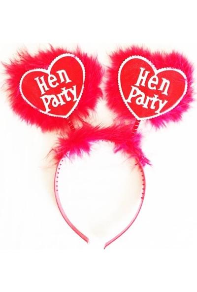 Tam İthalat Kırmızı Renk Bekarlığa Veda Partisi Hen Party Taç