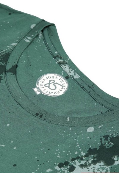 John Frank JFTEF20 Shadow Dıjıtal T-Shirt Yeşil